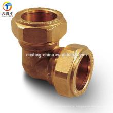 Encaixes de bronze do bocal para a carcaça de cobre do OEM da tubulação
