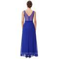 Starzz sin mangas de gasa vestido de fiesta azul real vestido de fiesta vestido de fiesta ST000064-3