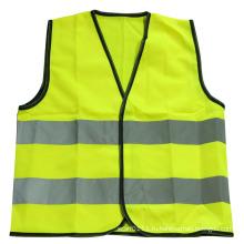 En1150 светоотражающие полосы полиэстер высокая видимость жилет безопасности детей (YKY2815)