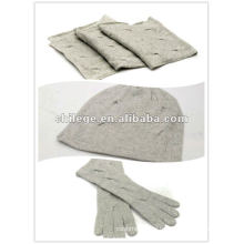 Weihnachtsstricken Kaschmir Hüte, Schals & Handschuhe-Sets