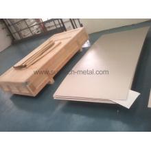 ASTM B265 Gr2 caliente placa de titanio puro (T002) en