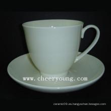Taza y platillo de cerámica (CY-B546)