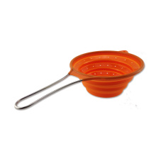 Safe Silicone Colander With SS handle Skimmer