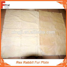 First Class Grade A Reasonable Price rex rabbit fur plate
