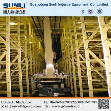 Дунгуань поставщик автоматизированный склад 3-мерной металлических складских стеллажей