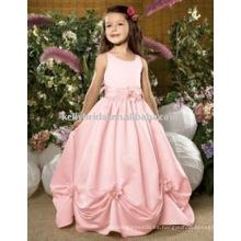 El trabajo exquisito 2012Cheap vestidos encantadores de la muchacha de flor de la boda