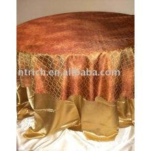 tissu de table hôtel maison utiliser la couverture de table, superposition d'organza, couverture de table polyester