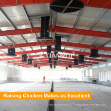 Hangar de ferme de volaille de conception de Tianrui avec l'acier de haute qualité