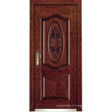Porte blindée en bois d'acier de style turc (LTK-A057)