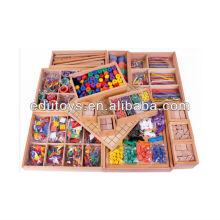 Froebel juguetes 15pcs ayudas de enseñanza de madera