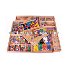 Brinquedos froebel 15pcs Auxílios didáticos em madeira