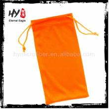 Bolsa de envelope de tecido de alta qualidade, logotipo impresso microfibra óculos soft case, embalagem sacos para óculos
