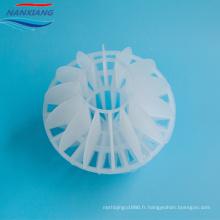 Boule creuse polyédrique d'emballage aléatoire en plastique