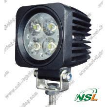 12W LED luz off-road, luz LED externa, luz LED à prova d'água