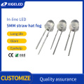 In-line LED 5mm straw hat