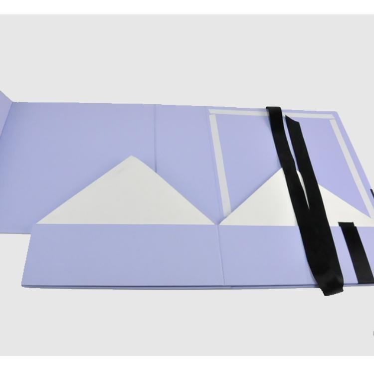 Purple Folding Gift Box 2 Png
