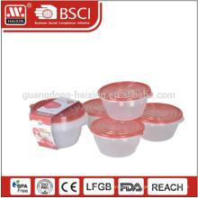 Take-Away caixa de refeição de grau de alimentos hermético recipiente plástico