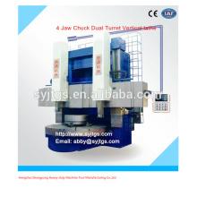 4 Torno de mandíbula Doble torreta Torno vertical precio ofrecido por Torno CNC doble husillo fabricación vertical