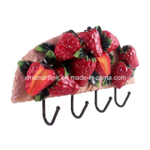 Strawberry Decor Towel Hanger, Resin Kitchen Hook, Fruit Wall Hook