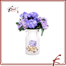 indoor decoration flower vase with decal pattern made in Chaozhou