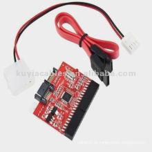IDE TO SATA Konverter Karte 100/133 HDD CD DVD Konverter Adapter + Kabel