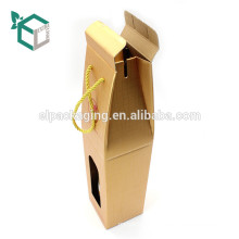 Boîte de cadeau d'emballage de transporteur d'emballage de carton ondulé de haute qualité pour la bière
