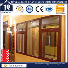 Wood Skin Printed Aluminum Swing Window/Insulating Glass Aluminium Swing Window