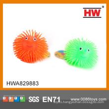 Funny flashing smile ball 5 inch 12pcs/box flashing fluffy ball