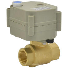 Actuador eléctrico Válvula de latón Válvula controlada motorizada Válvula motorizada de 2 vías con operación manual (T15-B2-B)