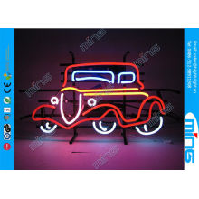 Flashing Glass Car Shop Neon Light Signs In Red Yellow Color