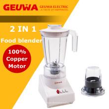 Geuwa 2 em 1 liquidificador de alimentos com moinho seco anexado