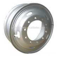 Heavy duty truck tube wheel rims 8.00-20,8.50-20,8.50-24 with high efficiency