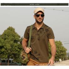 OEM Service hohe Qualität benutzerdefinierte Pique Stoff 100% Baumwolle Herren Polo-Shirt