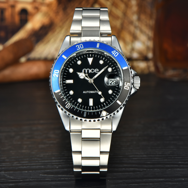 stainless steel 30m water resistant back wrist watch