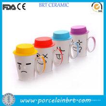 Tasse de café drôle couvercle émotionnel Silicone