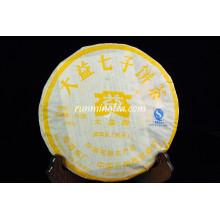 2009 Menghai Dayi 7452 Пирог спелого чая Puer