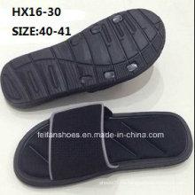 Мужская летняя пляжная нескользящая туфля на открытом тапочке Comfotable тапочки Ева простой мягкой сандалии тапочки (HX16-30)