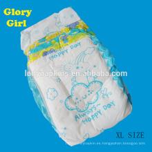 pañal súper suave del bebé de las muestras gratuitas usado pañal desechable soñoliento del bebé