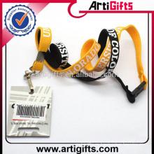 Cordón más nuevo del sostenedor de la tarjeta del identificación del tubo de la moda