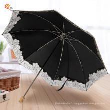 Manche en bois Design tissu pli, parapluie (YS-2F1001A)