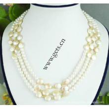 Gets.com 2015 naturais pérolas de água doce conjuntos de jóias