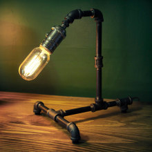 Black Iron Pipe Steampunk Desk Lamp