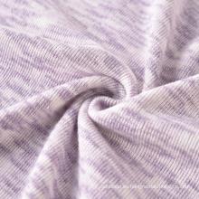 Comercio al por mayor de tejido tejido de poliéster viscosa tejido teñido espacial