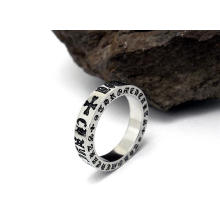 Classic Titanium Steel Silver Color Fashion Jewellery Rings