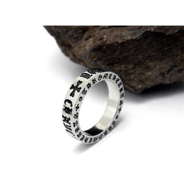 Classic Titanium Steel Silver Color Fashion Jewellery Rings