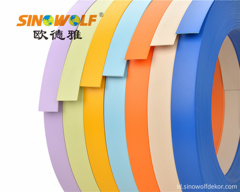 PVC Solid Color Edge Banding Series