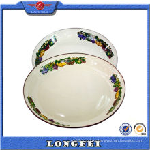 2015 Hot New Products Enamel Soup Plate with Decal