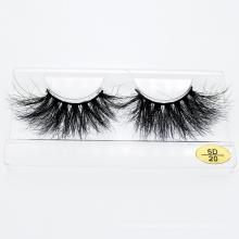 Korean Style Eyelash Wholesale Private Label Package Box 100% 3D 5D 25mm Mink Lashes
