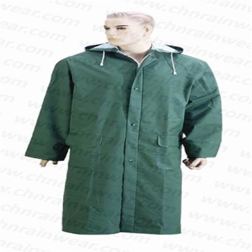 Promotional Polyester/PVC Different Color Long Raincoat with Hood