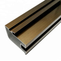 Silver anodized extruded aluminum profile for window